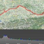 die Donau bis fast Wien und wieder zurück bis Regensburg